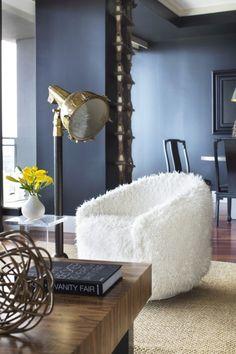 Kuschelige Möbel im Winter-Weiß Fell-Sofa Decken-Ideen