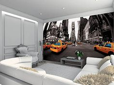 Poster XXL TAXIS NEW-YORK 315 x 232 cm