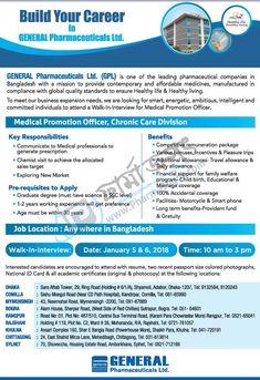 Medical Promotion Officer, Chronic Care Division @GENERAL Pharmaceuticals Ltd. (GPL)