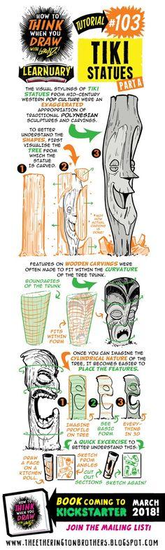 #103 Tiki Statues A