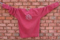 Monogrammed Comfort Colors Pullover by CatalystPromotions on Etsy, $32.00