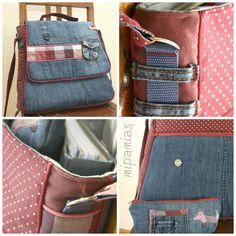 Shoulder bag from old jeans