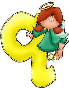 Angel letra q Alphabet For Kids, Alphabet And Numbers, Alphabet Letters, Fancy Letters, Monogram Letters, Mig E Meg, Angel Clipart, Alphabet Templates, Doodle Pages