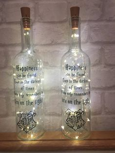 $16.37 Harry Potter night light bottle with quote gift present. Unique Christmas present! #affiliate