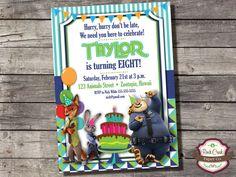 Zootopia INVITATION Nick Wilde Judy Hopps por RockCreekPaperCo