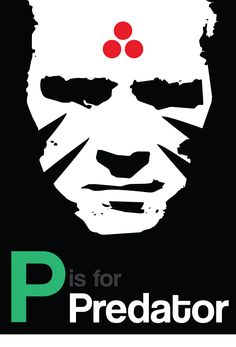 P is for Predator - A little different as this one doesnt show the main character/concept, but I like it all the same!