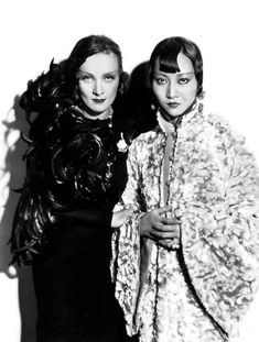 Marlene Dietrich & Anna May Wong - had to pin this. I've seen this lady in old Charlie Chan movies,etc.
