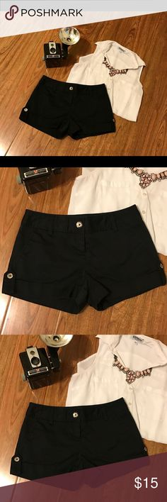 Express Shorts Express Shorts that have silver button details. Express Shorts