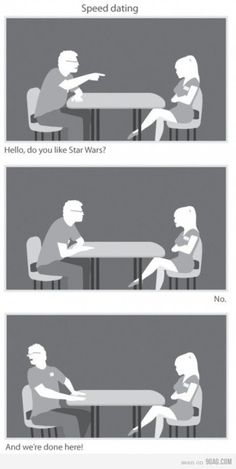 Speed dating. Pretty much how I role when it comes to things like this.