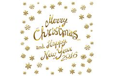 Merry Christmas. Happy New 2016 Year by Rommeo79 on Creative Market