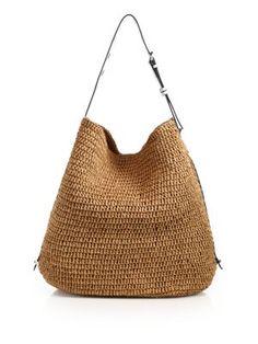 REBECCA MINKOFF Woven Saffiano Leather Trim Tote. #rebeccaminkoff #bags #leather #hand bags #tote