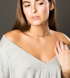 Silver, Rose or Gold Simple Choker, Tight Wire Neck Ring For Layering Jewelry, No Clasp Necklace, Slip Off Easy Layering Jewelry Simple