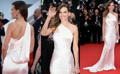 """Hilary Swank In Atelier Versace – Cannes 2014: """"The Homesman"""" Premiere"""