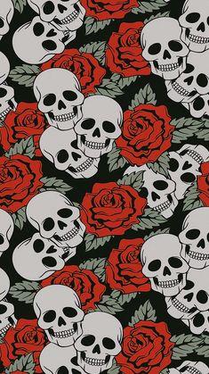 Skull Wallpaper, Dark Wallpaper, Pattern Wallpaper, Pretty Backgrounds, Wallpaper Backgrounds, Iphone Wallpaper, Black Aesthetic Wallpaper, Aesthetic Wallpapers, Wallpaper Caveira