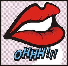pop art lips ohhh!!!