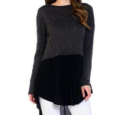 Long black tunic Armpit to armpit: 22 inches.  Also available in Small. Moon Collection Tops Tunics