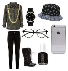 """""""☹☹"""" by zemkool ❤ liked on Polyvore featuring Boohoo, Essie, Luv Aj and Michael Kors"""