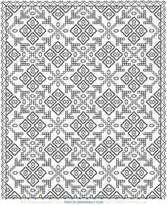 Quilt Block Coloring Pages Unique Quilt Patterns Coloring Pages Dover Coloring Pages, Pattern Coloring Pages, Coloring Pages To Print, Adult Coloring Pages, Coloring Books, Geometric Patterns, Modern Quilt Patterns, Doodle Coloring, Mandala Coloring