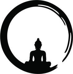 Enso Zen Circle of Enlightenment, Meditation, Buddha, Buddhism, Japan by nitty-gritty Art Buddha, Buddha Kunst, Buddha Painting, Buddha Buddhism, Buddha Drawing, Buddhism Tattoo, Buddha Logo, Zen Painting, Buddha Tattoo Design