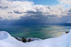 snow -- Baie de Bejaia, Algeria   North Africa