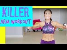Killer Arm Workout. Toning the upper body with three easy moves in this killer ARM workout! You can use dumbells, soup cans, or your own body weight!