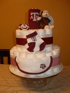 Great idea when hosting a baby shower for an Aggie friend