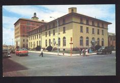 1950's CARS ALBUQUERQUE NEW MEXICO U.S. POST OFFICE DOWNTOWN STREET POSTCARD