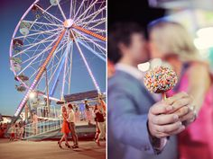 carnival theme engagement photos