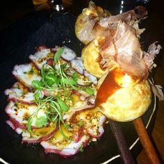 Chef Tony of Uni beautiful representation of sashimi with Koppert Coriander Cress.  #koppertcressusa #microgreens #sashimi #foodgasm #foodporn #cheflif by koppertcressusa