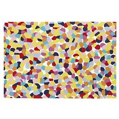 Kids Rugs: Colorful Pebble Pattern Woven Rug