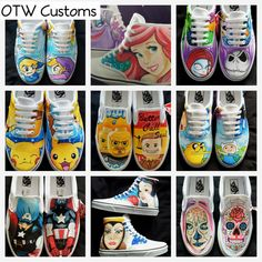 Custom Vans Converse Shoes All Designs by Offthewallcustoms