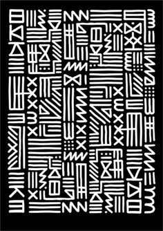 KATE MOROSS - MONOCHROME TRIBAL