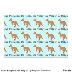 Shop Mama Kangaroo and Baby in Birthday Hats Tissue Paper created by PenguinCornerStore.