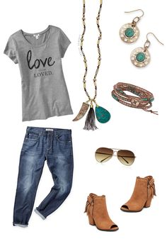 Graphic Tees are huge right now. Throw on your distressed jeans,peep toe booties and sunnies along with Premier Designs Vintage Vibe necklace, pop of posh wrap bracelet and swap it out earrings and you are on trend and out the door.