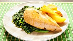Balsamic Chicken and Pears with Spinach