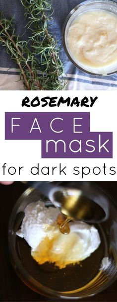 DIY face mask for dark spots. Such a great at home treatment for age spots and sun spots.