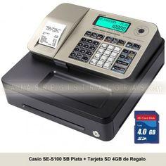 cajasregistradoras.com les ofrece la nueva Caja Registradora Casio SE-S100 en color Oro + Tarjeta Memoria SD 4GB x solo 199€ IVA incluido.