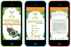 #Screenshots from the Springkell Gardens #MobileApp for #gardening & #mowing services.  #MobileApp #LawnMowing #Apps #iPhone #Android #iOS7 #MobileAppDevelopment