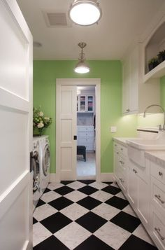 eclectic laundry room Kirkland Lake View House
