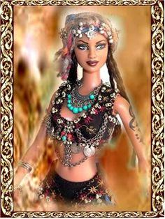 OOAK Tribal Belly Dance Dolls, Tribal Belly Dance, American Tribal Style dolls ,OOAK Barbie dolls, one of a kind dolls