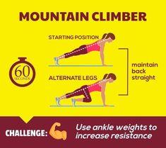 Flat Abs Workout - Mountain Climber