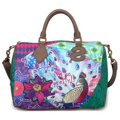 Bowling Peacock by Desigual Lv Handbags, Handbags Online, Handbags On Sale, Louis Vuitton Handbags, Louis Vuitton Speedy Bag, Bowling, Michael Kors Sale, Unique Bags, Branded Bags