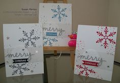 Stampin' Up! Made by Susan Merrey Independent Stampin' Up! Demonstrator, Craftyduckydoodah!, Holly Jolly Greetings, Christmas Greetings Thinlets Dies,