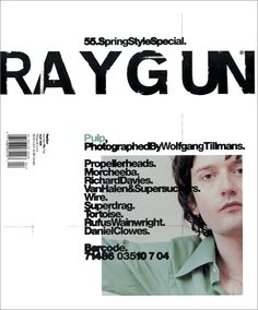 Ray Gun was an American alternative rock and roll magazine, first published in 1992 led by founding art director David Carson. David Carson is best known for his innovative magazine designs and dec…