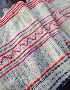 Vintage Hmong Fabric Handmade Hemp Batik Tribal by KutchiKooTribe, $64.95