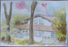 Hortus Olibani - Olevano Romano (Rome, Italy) - Postcard in watercolour