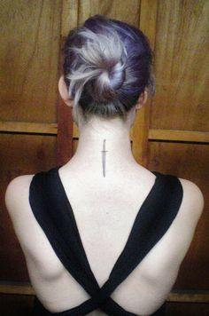 Sword tattoo on pinterest armor tattoo dragon tattoos for Sword tattoos tumblr