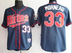 Morneau Blue Jersey $18.99  This jersey belongs to Minnesota Twins  Color:blue Size: M, L, XL, XXL, XXXL  The jersey is made of heavy fabric with nylon diamond weave mesh