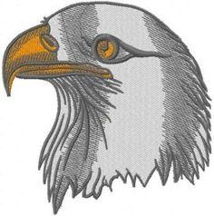Eagle head embroidery design. Machine embroidery design. www.embroideres.com