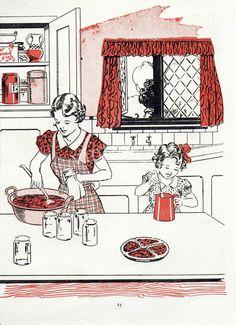 1950 39 S Kitchen Illustrations On Pinterest Illustrations 1950s